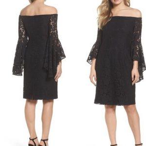 NWOT Chelsea 28 off the Shoulder Lace Black dress